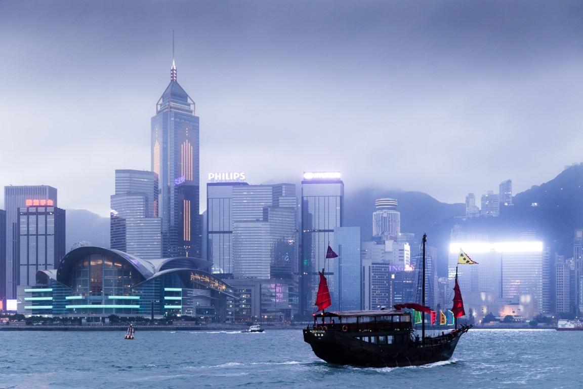 Man Made Hong Kong China Victoria Harbour City Skyscraper Sky Cloud Hd Wallpaper Image Cities