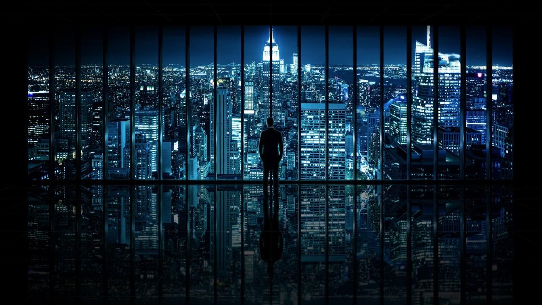 Man Made New York United States City Building Skyscraper Night Light Manhattan Hd Background Image Cities