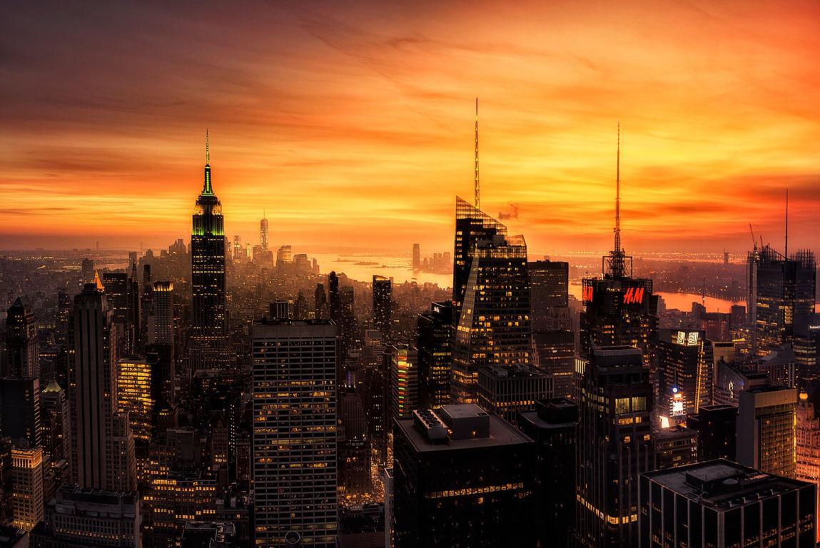 Man Made New York United States City Cityscape Building Skyscraper Fog Sunbeam Hd Wallpaper Image Cities