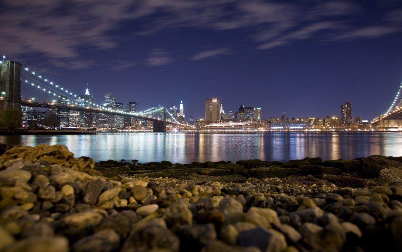 Man Made New York United States City Night Town Usa Manhattan Hd Wallpaper Background Image Cities