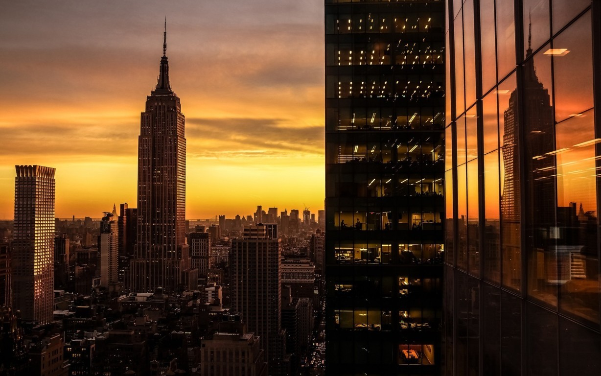 Man Made New York United States Empire State Building City Manhattan Hd Wallpaper Background Image Cities