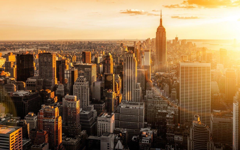 Man Made New York United States Landscape City Building Skyline Cloud Skyscraper Manhattan Hd Background Image Cities