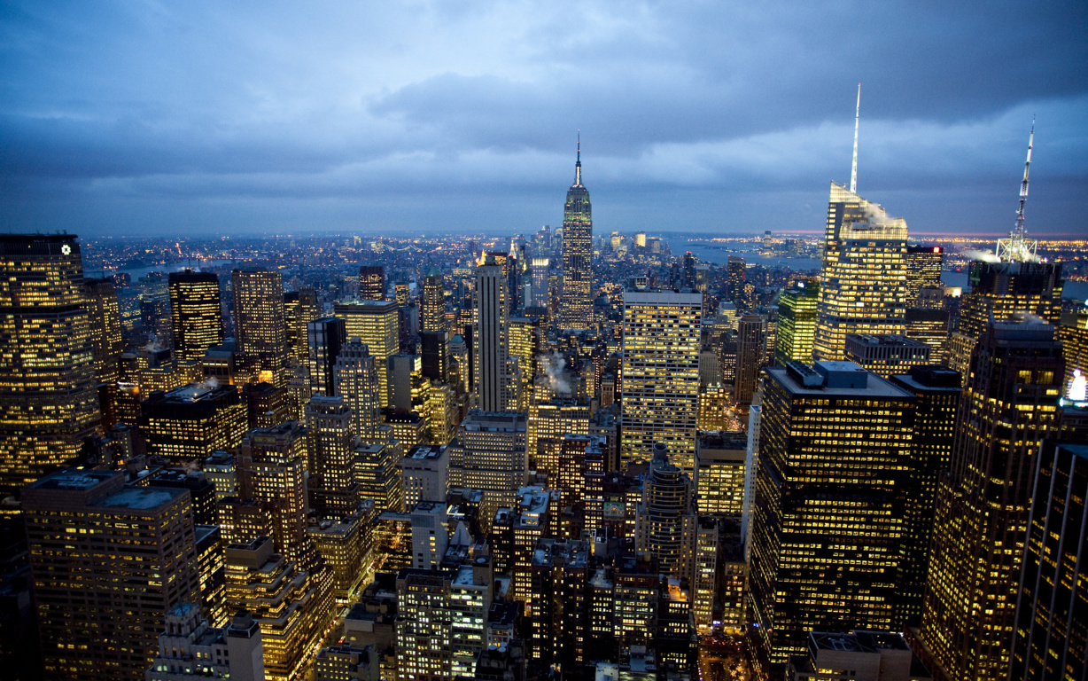 Man Made New York United States Skyscraper City Cityscape Artistic Hd Background Image Cities