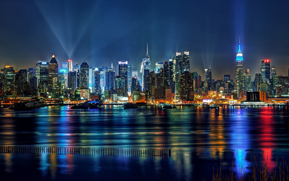 Man Made New York United States Skyscraper City Cityscape Artistic Hd Wallpaper Background Cities
