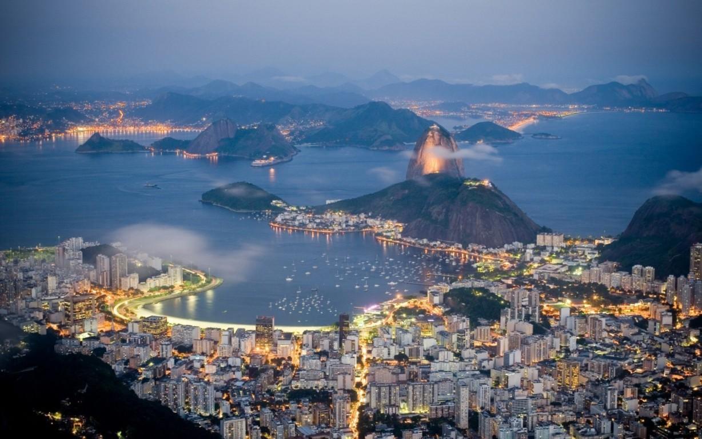 Man Made Rio De Cities Brazil City Beach Light Hd Background Image Janeiro