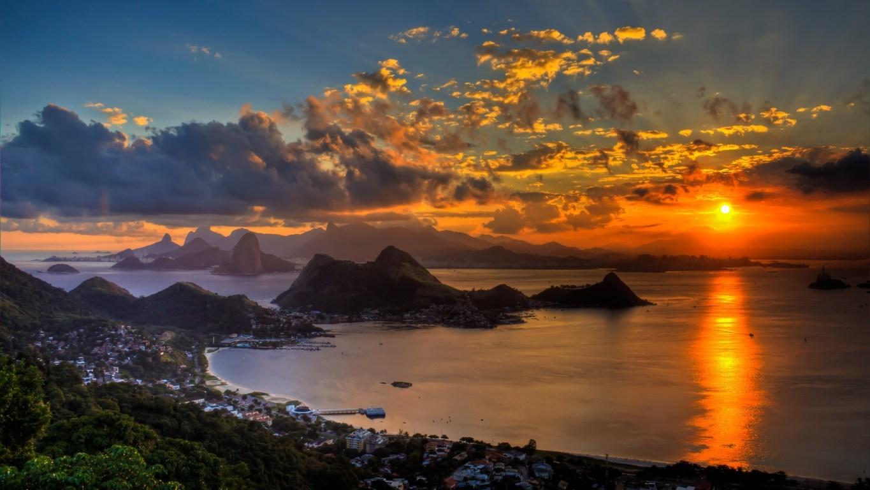 Man Made Rio De Cities Brazil City Beach Light Hd Wallpaper Background Image Janeiro