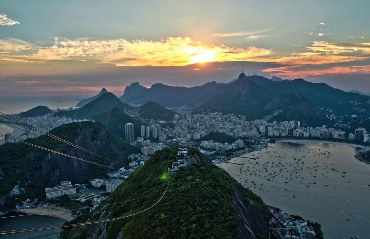 Man Made Rio De Cities Brazil City Beach Light Hd Wallpaper Image Janeiro