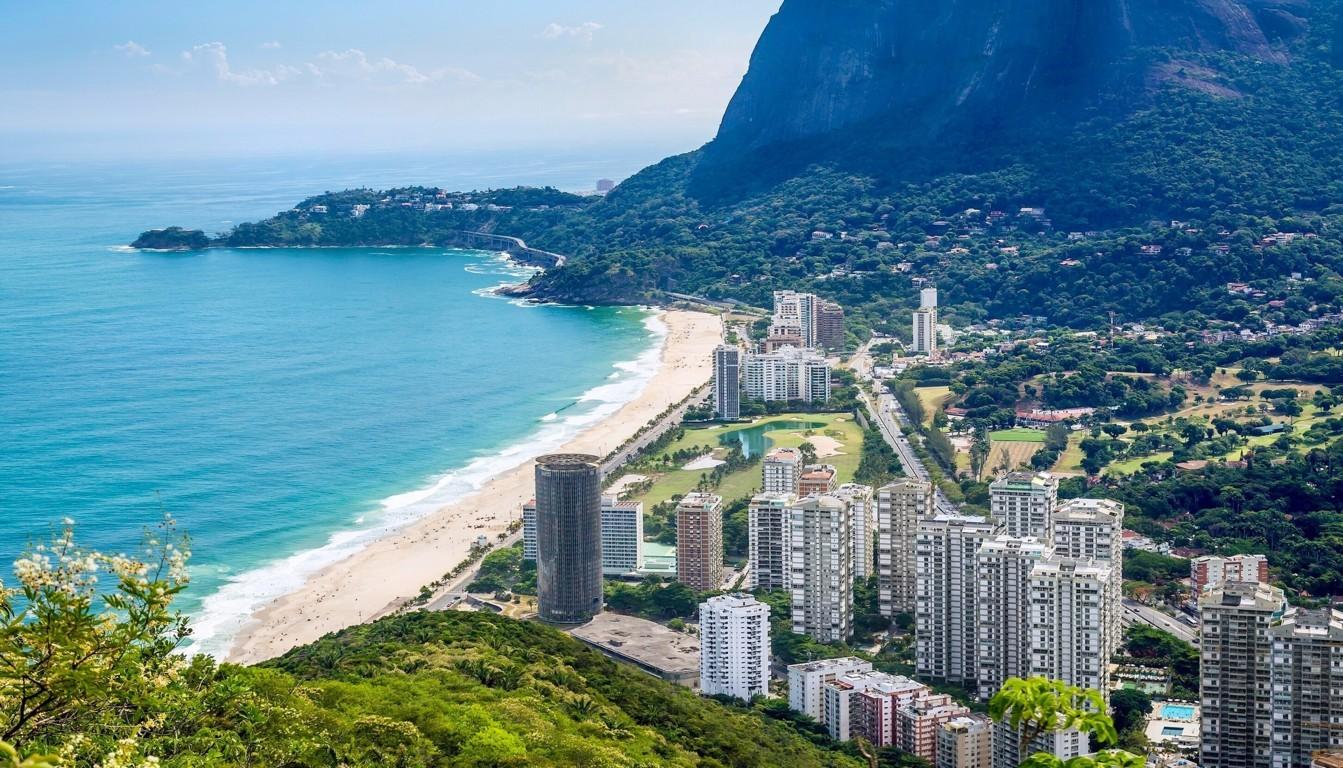 Man Made Rio De Cities Brazil City Beach Light Wallpaper Background Image Janeiro