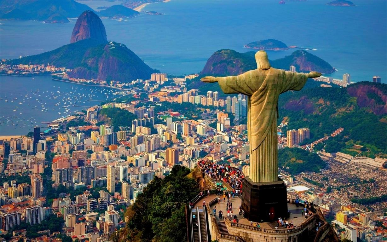 Man Made Rio De Cities Brazil City Megapolis Mountain Coastline Beach Hd Wallpaper Background Image Janeiro