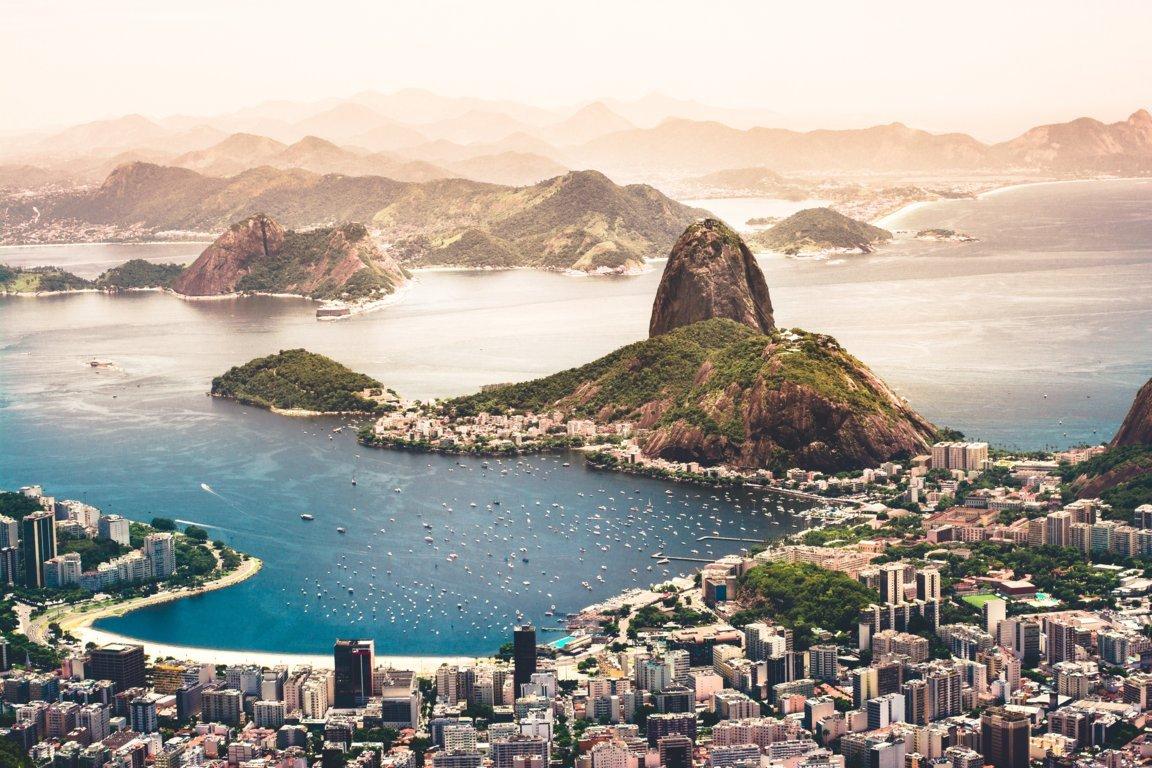 Man Made Rio De Cities Brazil City Megapolis Mountain Coastline Beach Hd Wallpaper Background Janeiro
