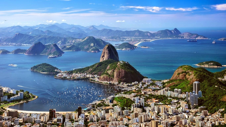 Man Made Rio De Cities Brazil City Megapolis Mountain Coastline Beach Hd Wallpaper Image Janeiro