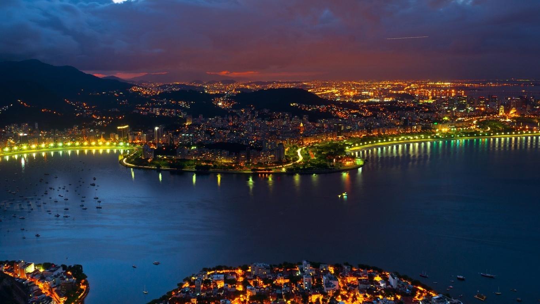 Man Made Rio De Cities Brazil City Megapolis Mountain Coastline Beach Wallpaper Background Image Janeiro