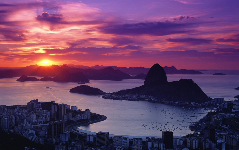 Man Made Rio De Cities Brazil Cityscape Light Night Architecture Building Background Image Janeiro