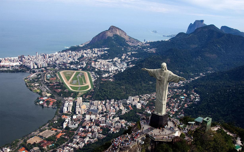 Man Made Rio De Cities Brazil Cityscape Light Night Architecture Building Hd Wallpaper Background Image Janeiro
