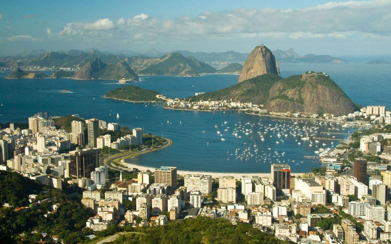 Man Made Rio De Cities Brazil Cityscape Light Night Architecture Building Hd Wallpaper Background Janeiro