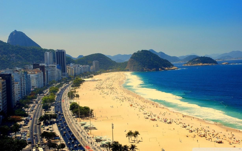Man Made Rio De Cities Brazil Cityscape Light Night Architecture Building Hd Wallpaper Image Janeiro