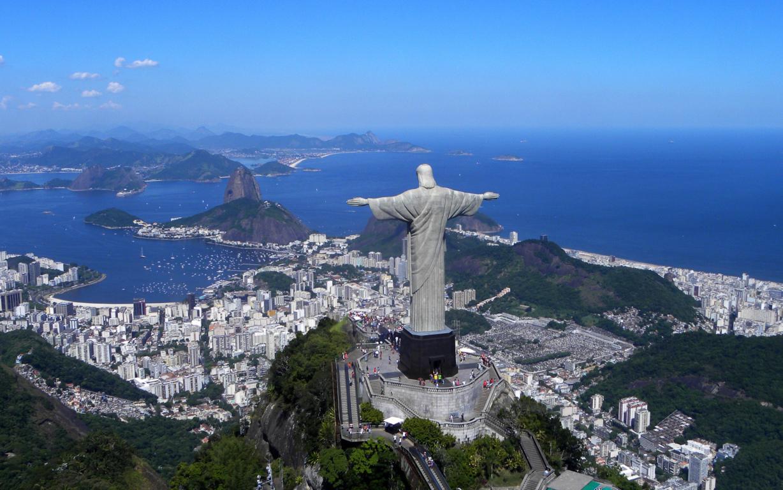 Man Made Rio De Cities Brazil Cityscape Light Night Architecture Building Hd Wallpaper Janeiro