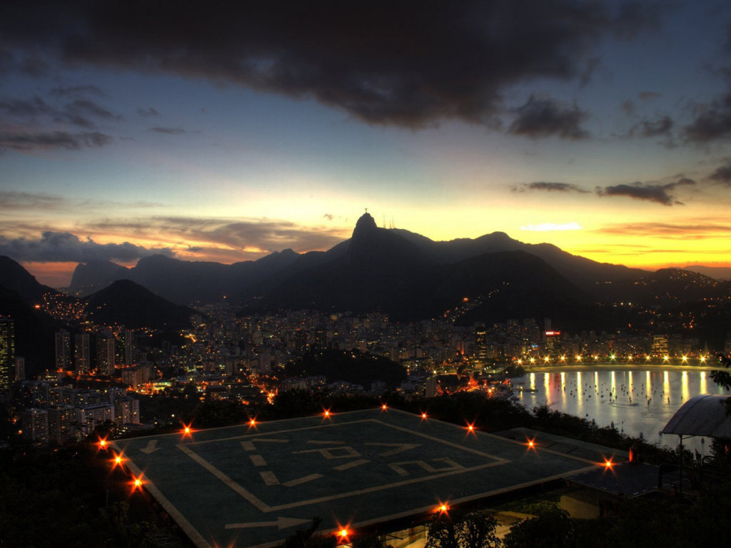 Man Made Rio De Cities Brazil Cityscape Light Night Architecture Building Wallpaper Background Image Janeiro