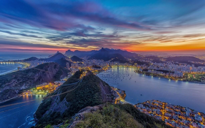 Man Made Rio De Cities Brazil Lightning Cloud Storm Mountain Bay Hd Wallpaper Image Janeiro