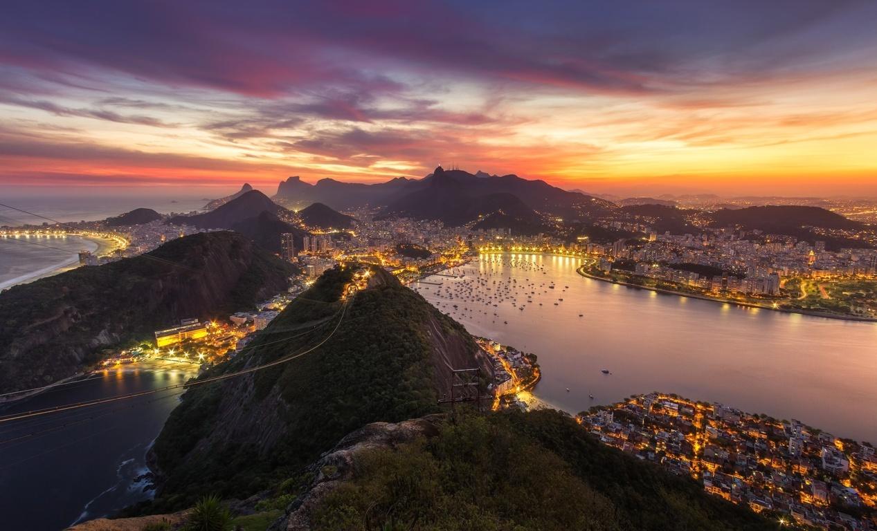 Man Made Rio De Cities Brazil Sea Seashore Coast Beach Hd Background Image Janeiro