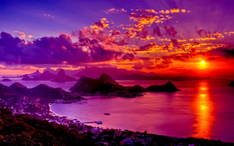 Man Made Rio De Cities Brazil Sea Seashore Coast Beach Hd Wallpaper Background Janeiro