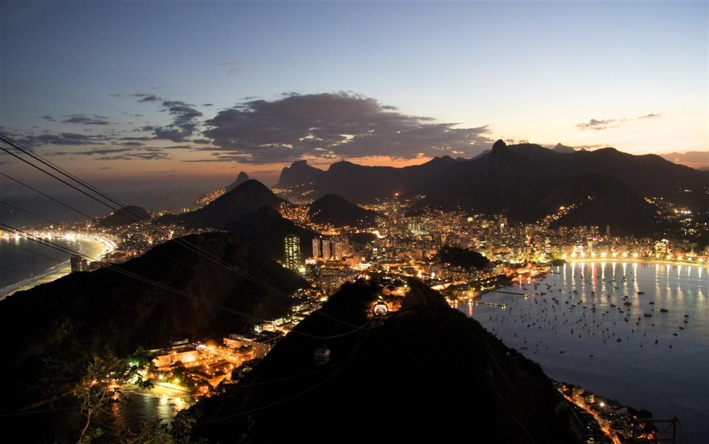 Man Made Rio De Cities Brazil Sunset City Background Image Janeiro