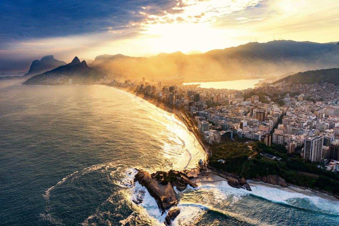 Man Made Rio De Cities Brazil Sunset City Hd Wallpaper Image Janeiro