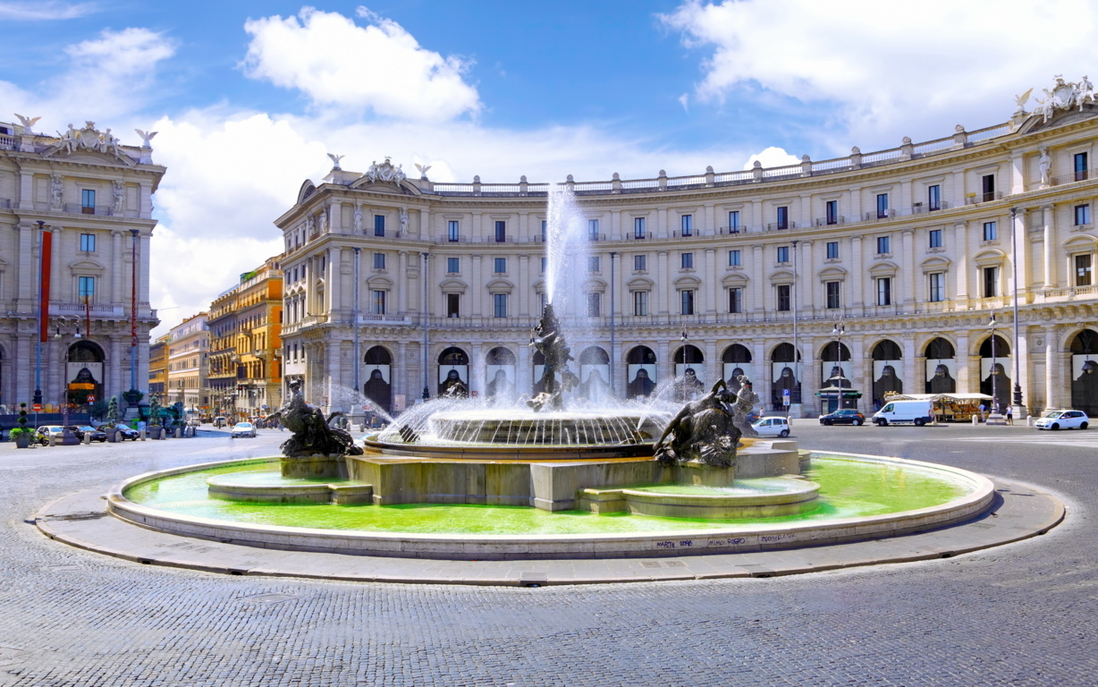 Man Made Rome Cities Imperial Fora Hd Background Image Italy