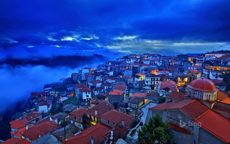 Man Made Santorini Towns Hd Background Image Greece