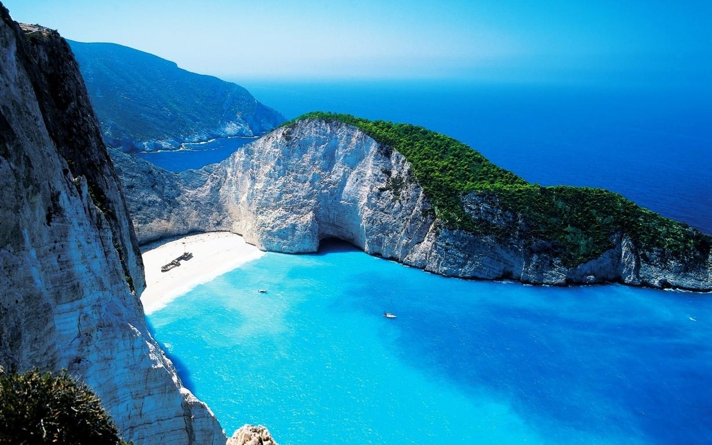 Man Made Santorini Towns Sunshine Island Horizon House Hd Wallpaper Background Image Greece