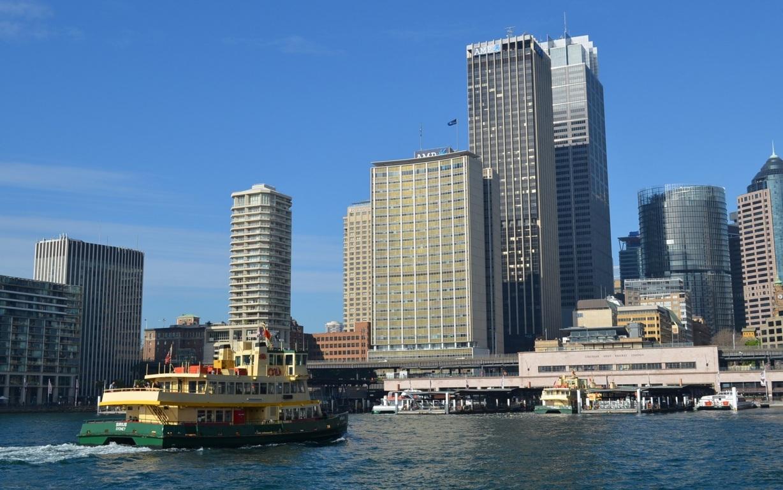 Man Made Sydney Cities City Aerial Boat Cityscape Horizon Sydney Harbour Sydney Harbour Bridge Australia