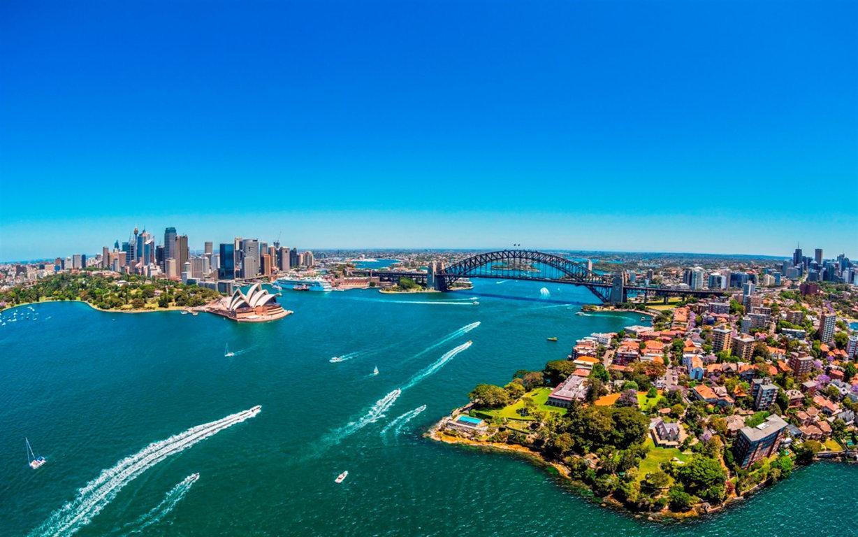 Man Made Sydney Cities Harbor Boat Vehicle Wharf Building City Skyscraper Circular Quay Ferry Australia