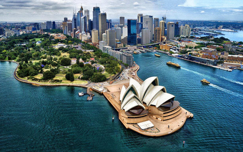Man Made Sydney Cities Harbor Boat Vehicle Wharf Building City Skyscraper Circular Quay Ferry Background Image Australia