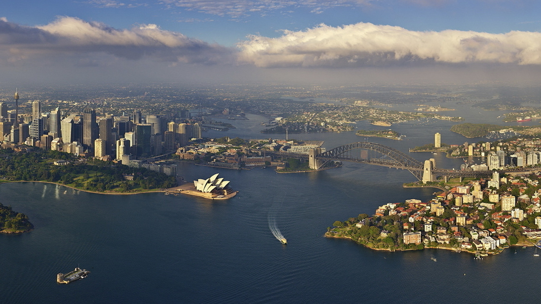 Man Made Sydney Cities Harbor Sydney Harbour Building Sydney Opera House Sydney Harbour Bridge Background Image Australia