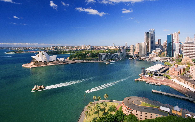 Man Made Sydney Cities Harbor Sydney Harbour Building Sydney Opera House Sydney Harbour Bridge Hd Wallpaper Australia