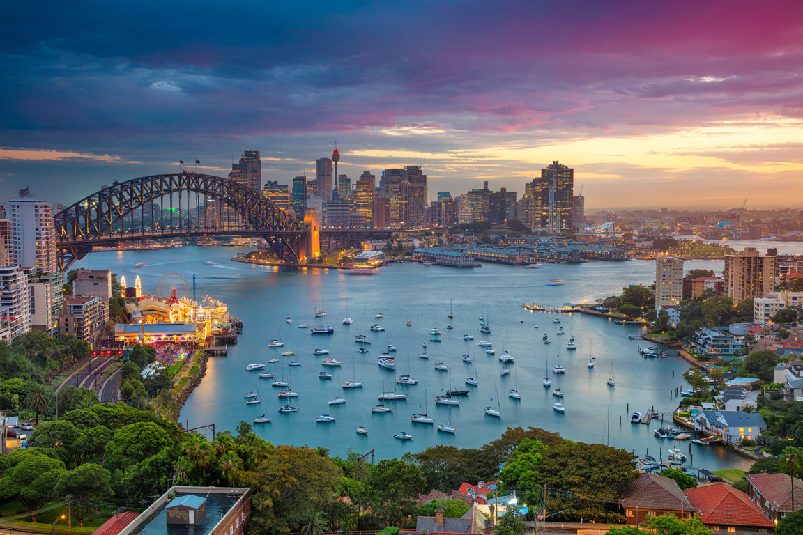 Man Made Sydney Cities Sydney Harbour Bridge Sydney Opera House Hd Wallpaper Image Australia