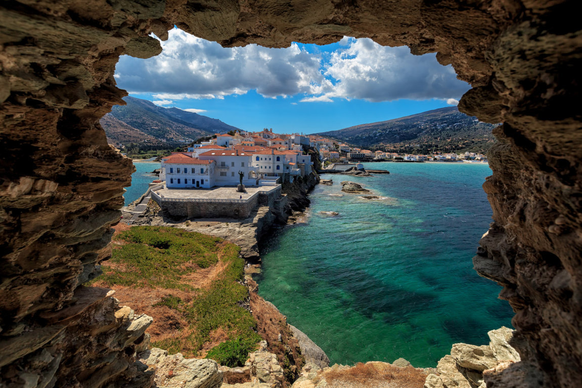 Man Made Town Towns Building Place Greece Scenic Tropical Villa Village Wave Ocean Sea Shore House Sky Cloud Syros Wallpaper Background Image Architecture