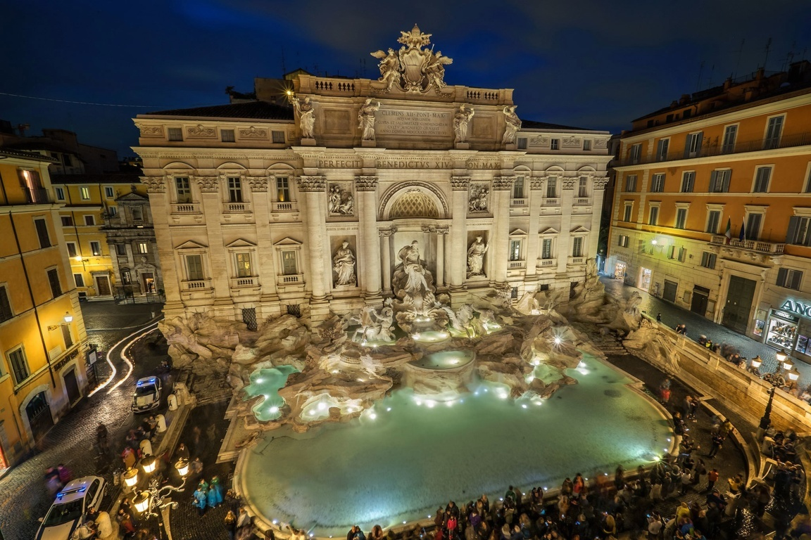 Man Made Trevi Fountain Trevi Italy Building Statue Fountain Rome Hd Wallpaper Image Monuments