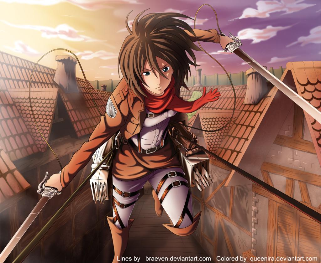 Mikasa Attack Titan Attack Titan 4k Wallpaper On