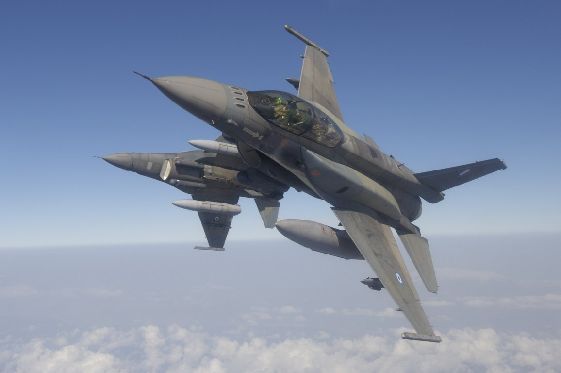 Military General Dynamics F-16 Falcon Jet Fighters Hellinic Air Force Greece Greek Hd Wallpaper Background Fighting