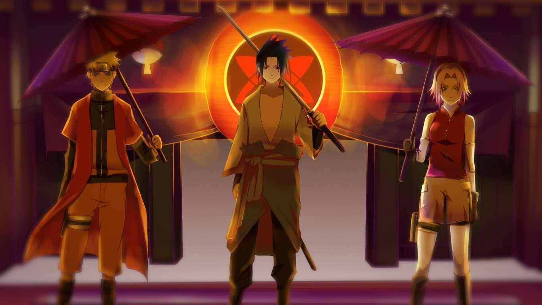 Naruto Uzumaki Sunset Scenery Wallpaper 4k