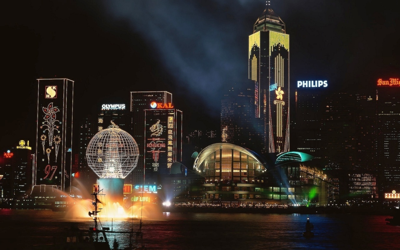 Photography Sunset Horizon City Kong Hd Wallpaper Background Image Hong