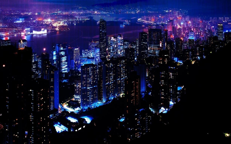 Photography Sunset Horizon City Kong Hd Wallpaper Image Hong