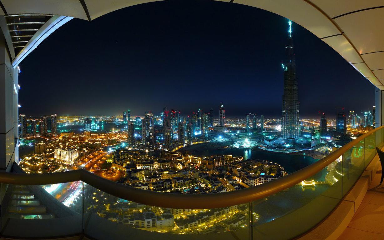 Photography Tilt Shift City Twilight Hd Wallpaper Background Image Dubai