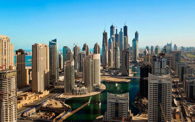 Photography Tilt Shift City Twilight Wallpaper Background Image Dubai
