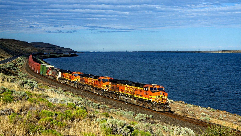 Abstract Coal Train Wallpaper