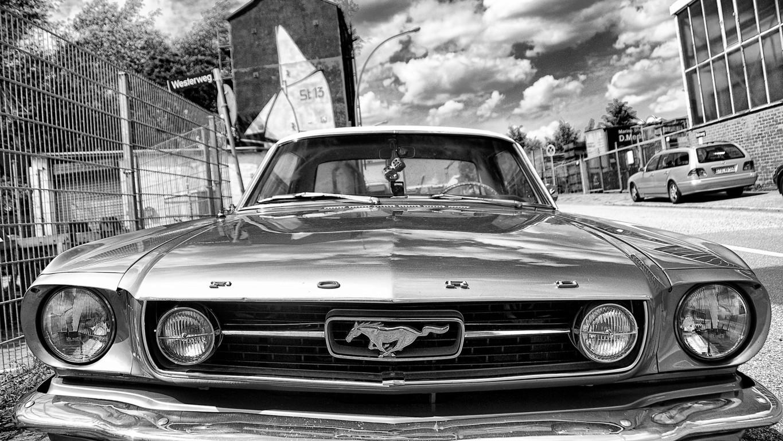 Black Classic Ford Mustang Full Hd Wallpaper Desktop Wallpaper