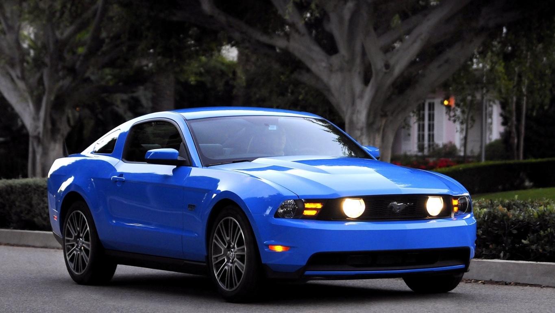 Ford Mustang Shelby White Full Hd Wallpaper Blue