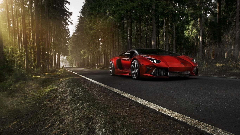 Lamborghini Aventador At Night Hd Desktop Wallpaper For 4k 4k