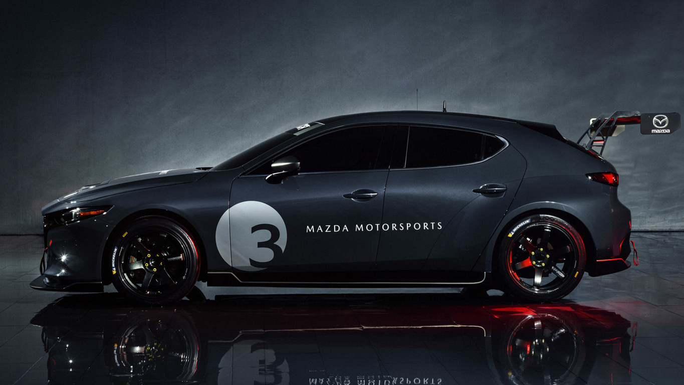 Mazda Rx Vision Concept View Red Car Wallpaper Wallpaper Byte Side